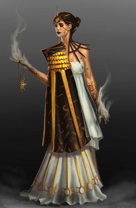Sun Priestess By Infinitecog In 2019 Character Design
