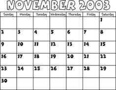 Image Result For Calendar November 2003 Calendar November Image
