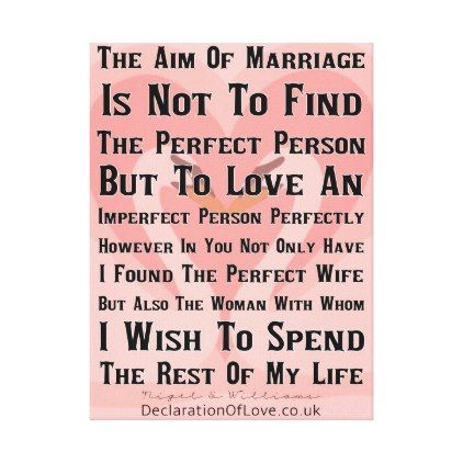 How to find a perfect wife