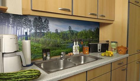 Washable Wallpaper For Kitchen Backsplash Kitchen Wallpaper