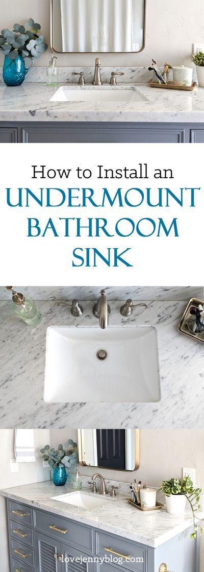 How To Install An Undermount Sink Diy Bathroom Inspiration Diy Bathroom Makeover Diy Furniture Plans How to install undermount bathroom sink