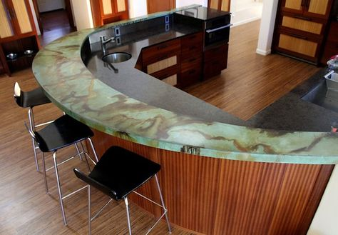 Stained Concrete Countertop Bar Kitchen Counters Pinterest Stained Concrete  Countertop And Concrete