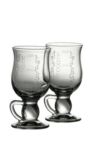 Galway Crystal Irish Blessing Latte Pair Transparent