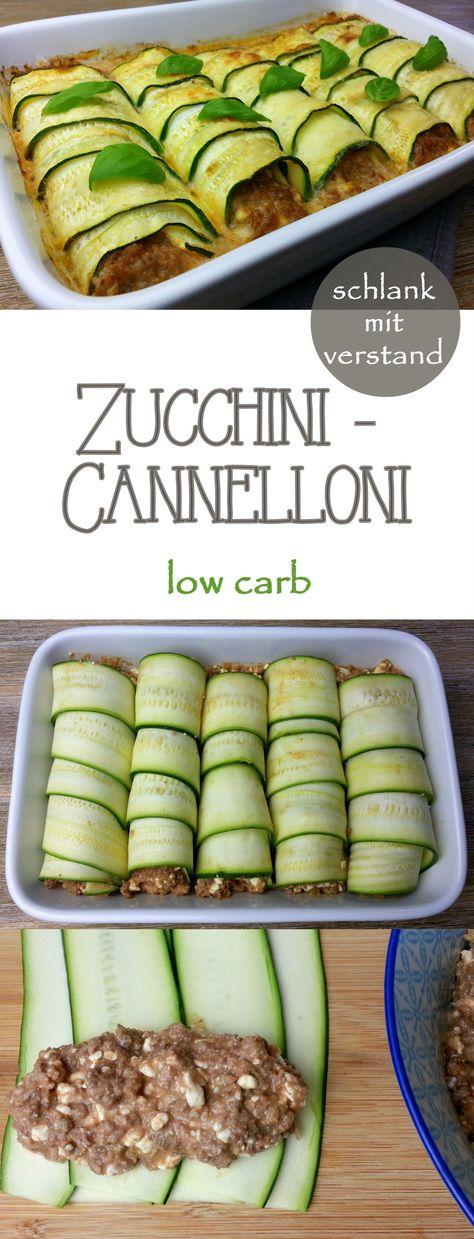 Zucchini-Cannelloni low carb Rezept