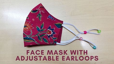 Sewing Hacks, Sewing Tutorials, Sewing Projects, Easy Face Masks, Diy Face Mask, Face Diy, Pony Beads, Diy Mask, Couture
