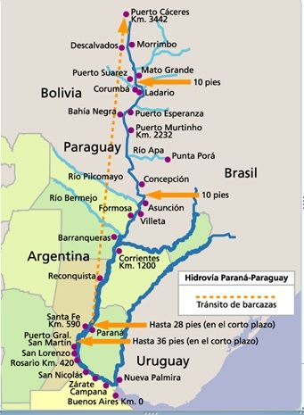 Hidrovia Transporte Pinterest - Zarate argentina map