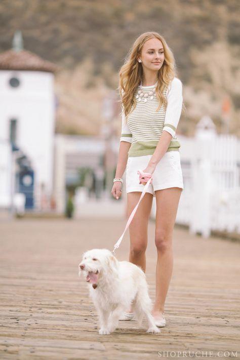 Dog walking on the pier! #ruche #shopruche