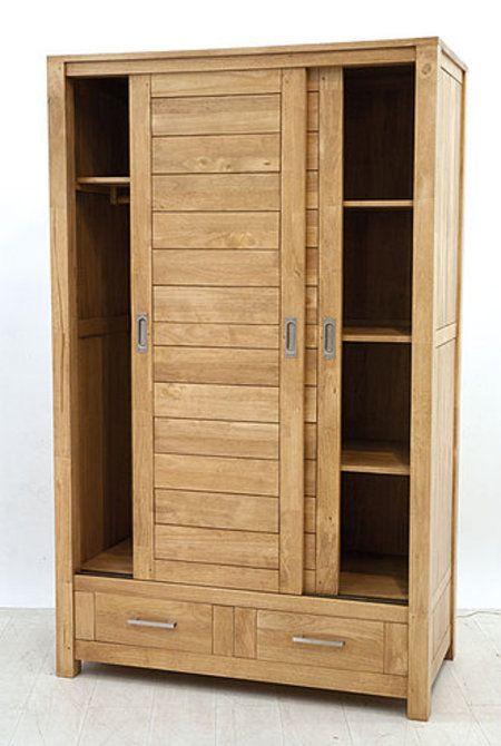 Armoire Bois Brut Armoire Thaman En Hevea Massif De Qualit Meuble En Bois Massif Tall Cabinet Storage Armoire Storage