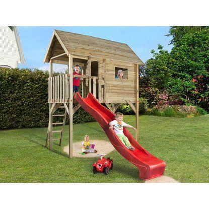 Weka Stelzen Spielhaus Tabaluga Mit Wellenrutsche Rot 332 Cm X 125 Cm X 235 Cm Kaufen Bei Obi Spiel Hutte Wellenrutsche Stelzenhaus