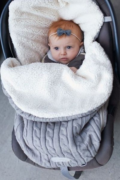 Baby Button Blanket Knitted Warm Swaddle Wrap Comfy Sleeping Bag FA