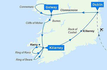 Irland Mietwagen Kurzreise Mit Bildern Irland Karte Irland