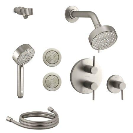 Kohler K Awaken G90 Sms25 4 1 798 57 For Brushed Nickel Shower Systems Kohler Body Spray Kohler multi head shower system