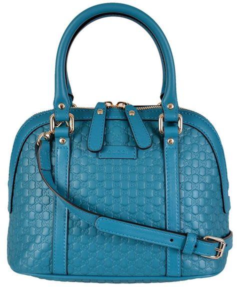 b36bd2e17f12 NEW Gucci 449654 $995 Micro GG Cobalt Blue Leather Convertible Mini Dome  Purse #Gucci #Satchel