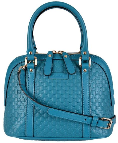 c4bb3f74a82 NEW Gucci 449654  995 Micro GG Cobalt Blue Leather Convertible Mini Dome  Purse  Gucci  Satchel