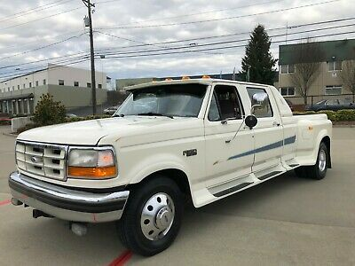 1995 Ford F350 Xlt Crew Cab Dually Long Bed Automatic 113k Original Miles Old 1990 S Trucks For Sale Vintage Ford F150 Crew Cab Cars For Sale Classic Trucks