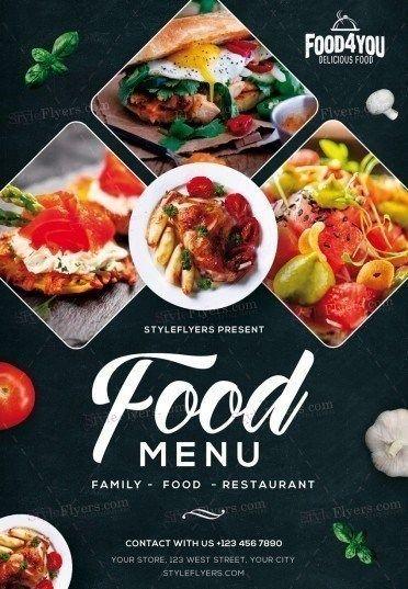 Free Food Flyer Templates Di 2020 Poster Makanan Desain Menu