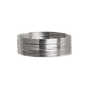 Wire Beadalon Stainless Steel 3 4 Hard Square 24 Gauge Sold Per Pkg Of 10 Meters In 2020 Silver Men S Rings Beadalon