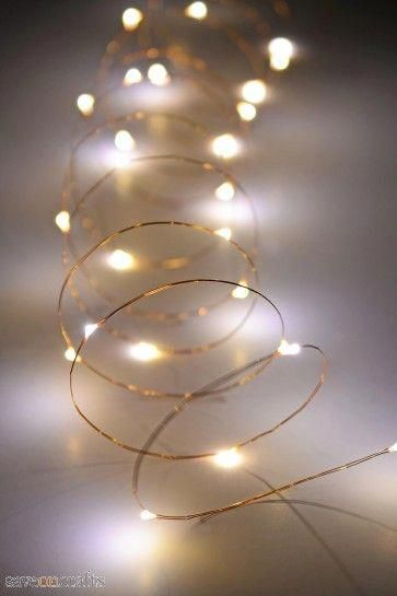 Copper Wire Fairy Lights 10 Ft Outdoor Battery Operated Warm White Copper Wire Fairy Lights Wire Fairy Lights Fairy Lights