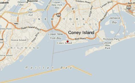 Coney Island New York Map Map Of New York Coney Island York