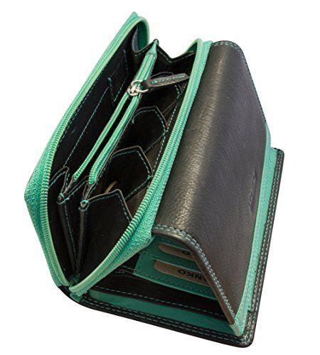 Damen Geldbörse Aus Leder Mit über 25 Fächer Xxl Extra