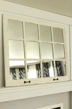 Farmhouse Mirror 12 Window Pane Mirror White Farmhouse Mirrors Window Pane Mirror Mudroom Decor