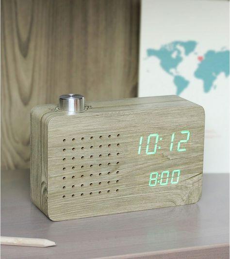 Radio Reveil Click Clock Radio Salle De Bain Radio Reveil Reveil