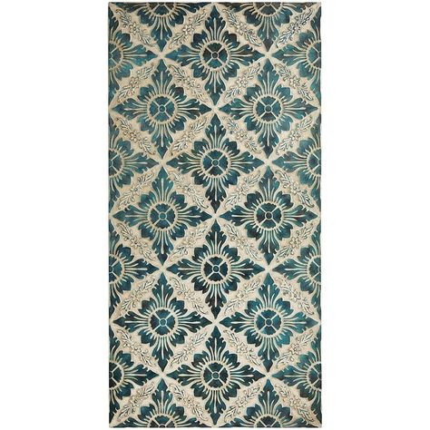 Pier 1 Imports Carved Tilework Wall Panel - Blue found on Polyvore