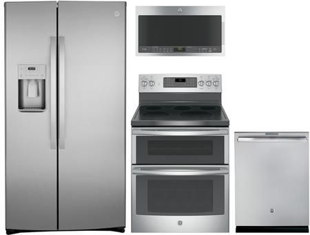4 Piece Kitchen Appliances Package With Gzs22iynfs 36 Side By