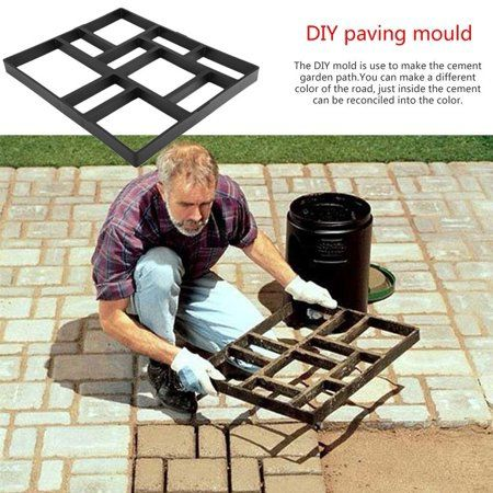 Diy Driveway Plastic Paving Pavement Stone Mold Concrete Stepping Pathmate Mould Paver Garden Decorated Tool Black Diy Driveway Diy Molding Pavers Diy