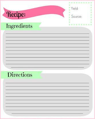 Free Editable Recipe Card Templates For Microsoft Word In 2021 Recipe Cards Template Recipe Cards Card Templates