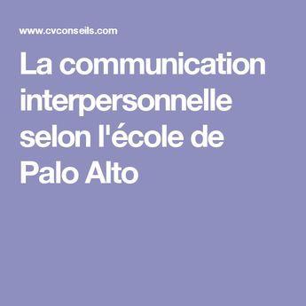 La Communication Interpersonnelle Selon L Ecole De Palo Alto Communication Interpersonnelle Apprendre A Raisonner Communication