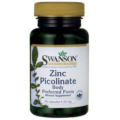 Swanson Premium Zinc Picolinate Body Pref 22 Mg 60 Caps Zinc Picolinate Colon Care Swanson Vitamins