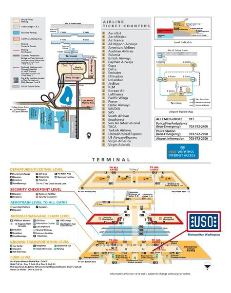 Pinterest Dulles Airport Terminal Map on