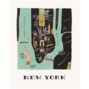 New York Map Print by Rifle Paper Co.   Prints/Wall Art Gifts   chapters.indigo.ca