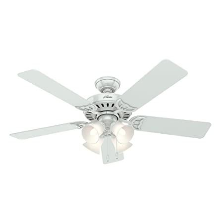 Hunter Indoor Ceiling Fan With Pull Chain Control Studio Series 52 Inch White 53062 In 2020 Ceiling Fan Ceiling Fan With Light 52 Inch Ceiling Fan