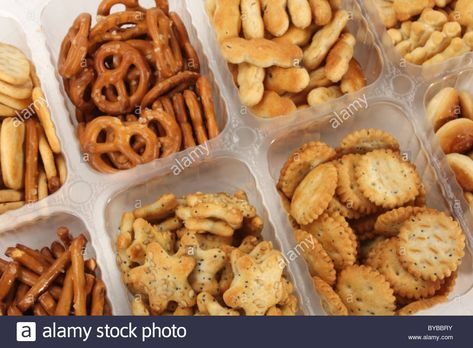 Savoury snacks and pretzels food; perfect for parties as
