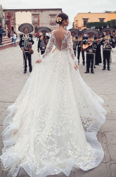 Courtesy of Julie Vino Wedding Dresses San Miguel Collection; Formal Dresses For Weddings, Long Wedding Dresses, Princess Wedding Dresses, Bridal Dresses, Wedding Gowns, Lace Dresses, Vintage Wedding Dresses, Lace Evening Dresses, Formal Wedding