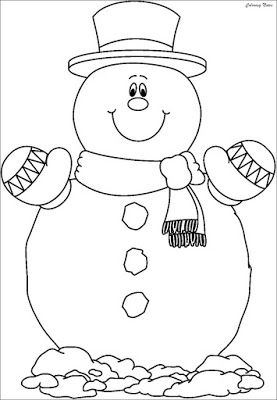 Coloring Pages Of A Snowman Printable Snowman Coloring Images