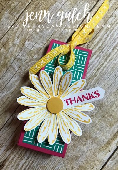 Stampin Up Card 3d Hand Sanitizer Treat Box Daisy Delight Punch