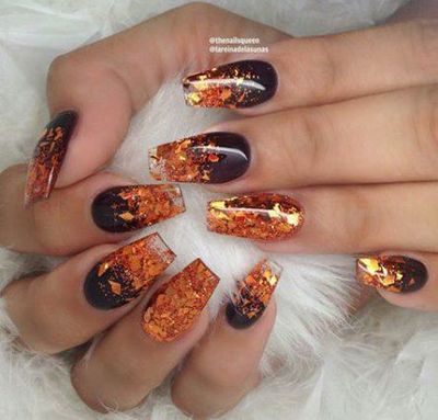 The 14 Best Nail Art Trends For Fall 2020 In 2020 Fall Nail Art Designs Fall Acrylic Nails Fall Nail Art