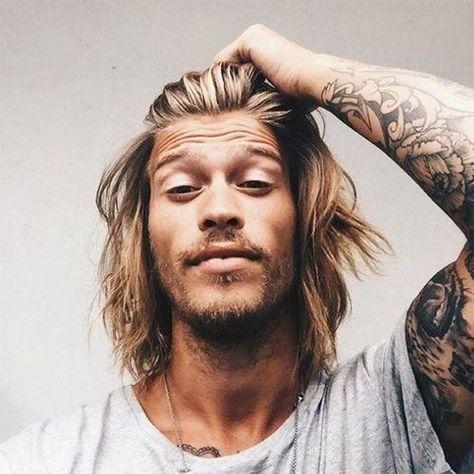 bilder zu lange frisuren für männer | surfer hair, surf