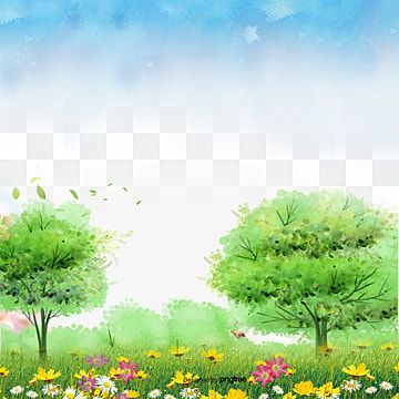 Blue Sky Grass Material Flowers Tree Spring Png Transparent Clipart Image And Psd File For Free Download Background Images Wallpapers Grass Background Blue Sky Background Garden background png hd images