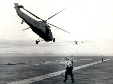 (Helicopters of HMM-363 lifting off Mike 3/5 from USS princeton heading for the area just north of Dong Ha on Operation DECKHOUSE II, 16 July)  __________________