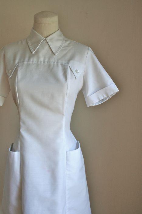 NURSES HEALTHCARE DRESS UNIFORM MAID HOUSEKEEPER BEAUTICIAN FANCY DRESS S