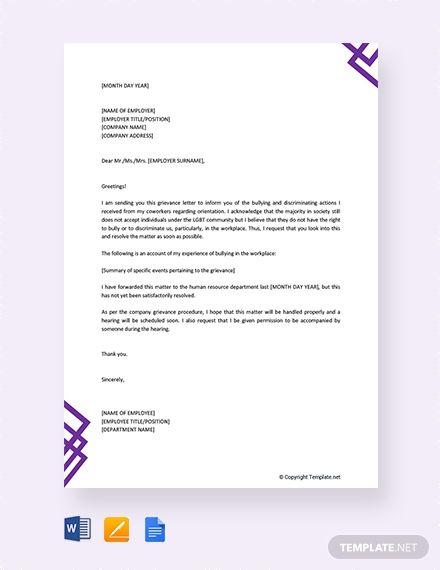 Free Formal Grievance Letter Lettering Felt Flowers Patterns