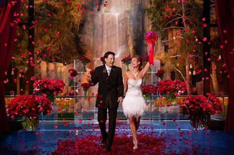 Tryst Nightclub at Wynn Las Vegas      Situated next to a private lagoon and a 90-foot waterfall, Tryst Nightclub is an ideal location for a luxe wedding celebration. With a dedicated DJ and lighting technician on-site your grand entrance into this over-the-top venue will definitely leave a lasting impression with your guests.    Photo via  Wynn Las Vegas .