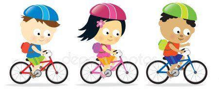 Kids Riding Bikes Stock Vector Spon Riding Kids Bikes