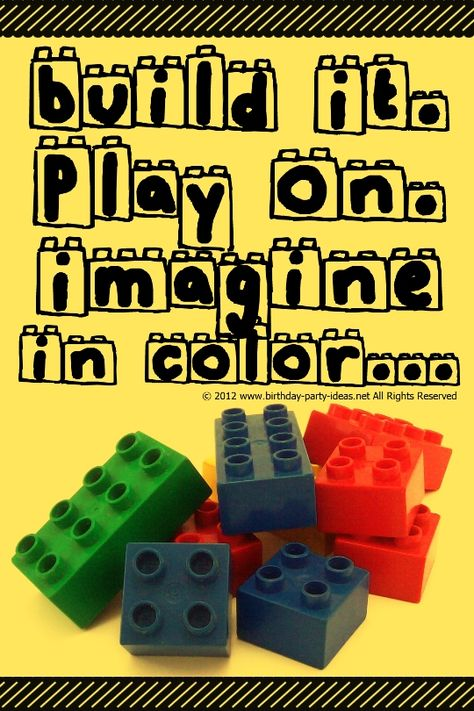 Lego Birthday Party #lego #birthday #party #ideas #quotes #saying #poems