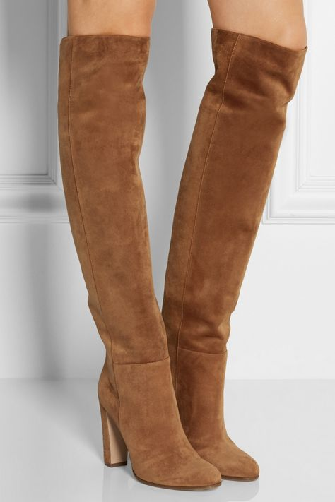 4a5e8594b1a Gianvito Rossi - Suede over-the-knee boots