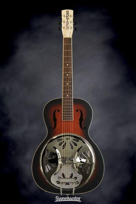 2-Color Sunburst Padauk Gretsch G9220 Bobtail Round-Neck Resonator-Electric Guitar